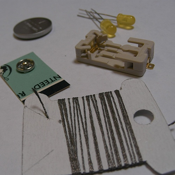 Electronic embroidery/sewing kit