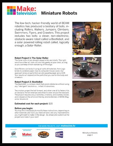 Maker Workshop PDF – Mini Robots
