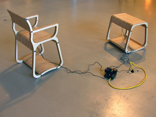 Nora & Torvald – sensor-controlled digital media in custom-designed pieces of furniture