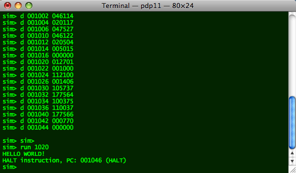 Hello, World (and more) on a PDP-11!