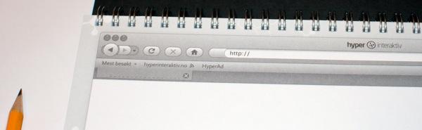 Web designer sketch book