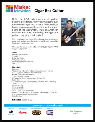 Maker Workshop PDF – Cigar Box Guitar