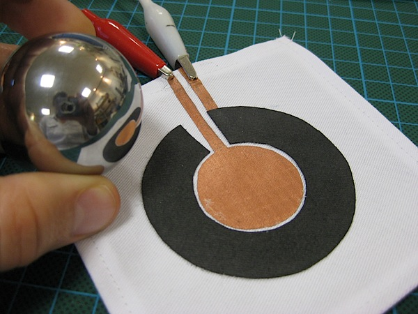 Circular fabric potentiometer