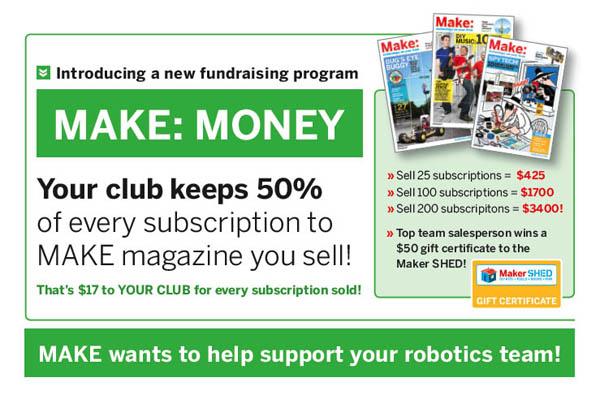 Make: Money fundraising program