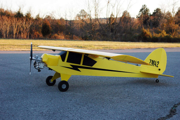 Giant RC plane runs on a Weed Wacker motor