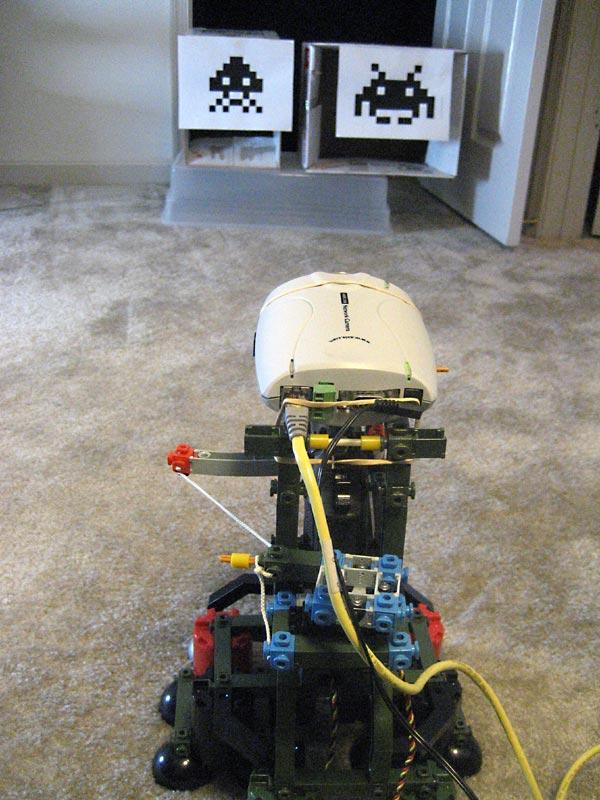 Wiimote-controlled airsoft gun