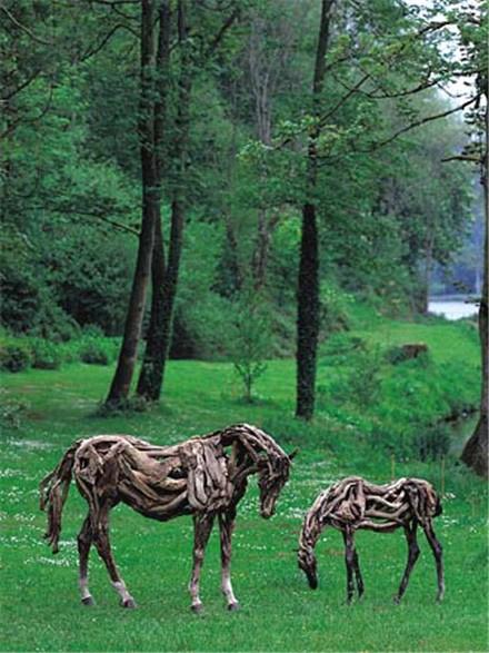 Heather Jansch's Driftwood Horses