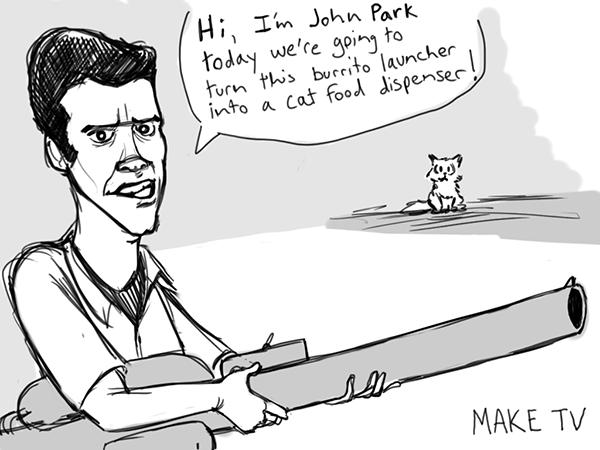 Maker Workshop mashup/John Park caricature