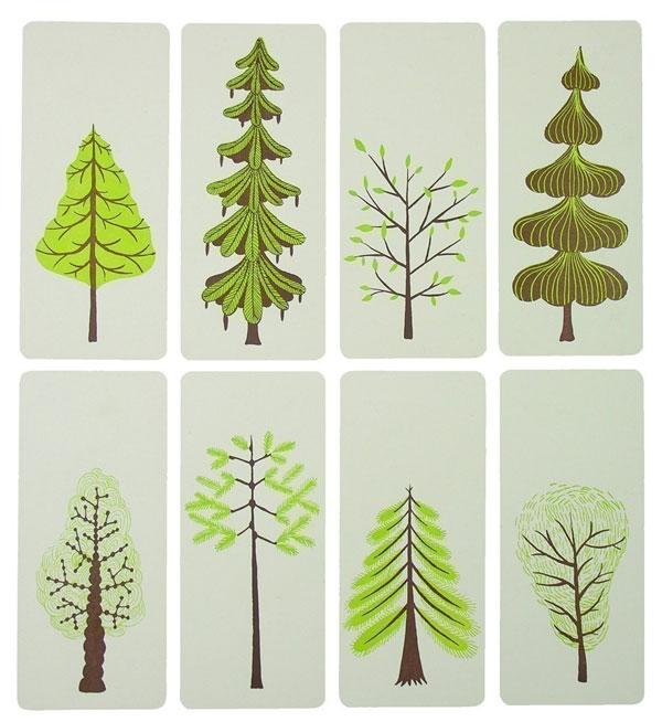 YeeHaw's Letterpress Spring Trees