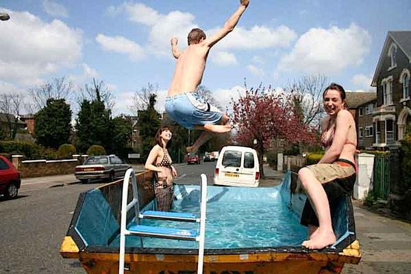 Dumpster swimming pool