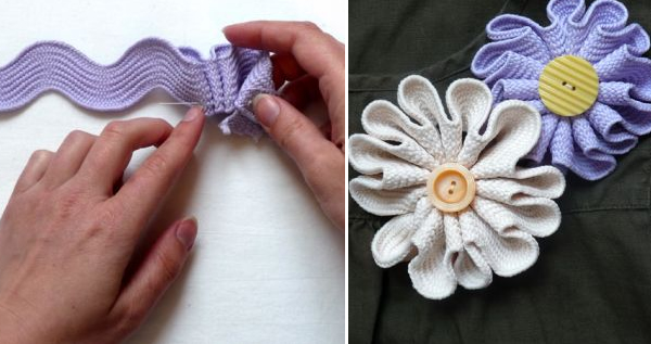How-To: Make a Jumbo Rick Rack Brooch For Mother's Day
