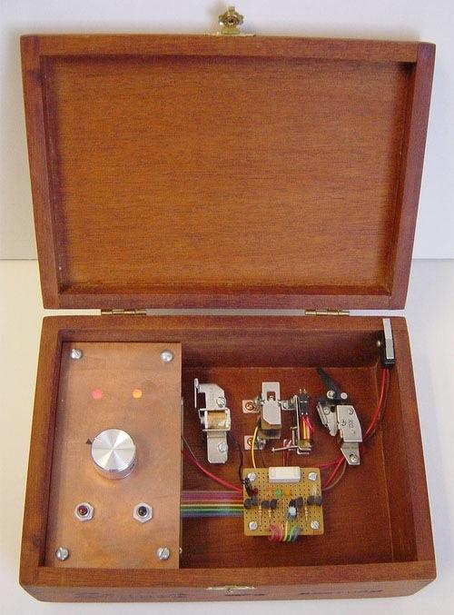Music box plays solenoid beats