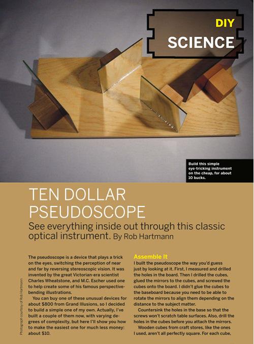 Weekend Project:  Pseudoscope (PDF)