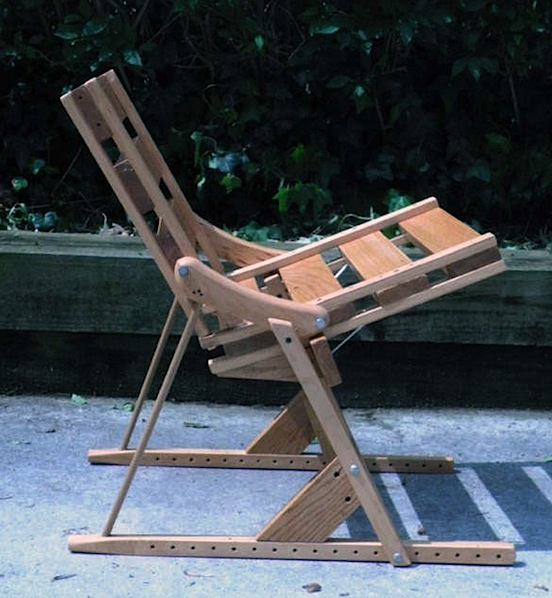 Chair from old crutches