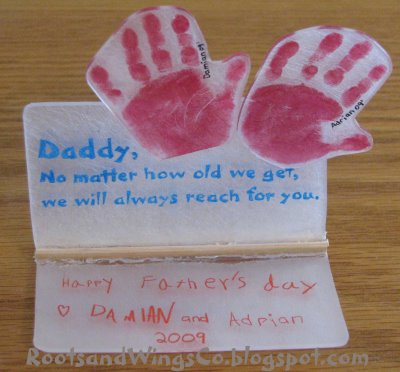 Father's Day Shrinky Dinks
