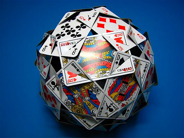 Playing card polyhedron