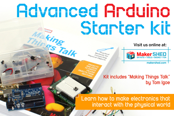 In the Maker Shed: Advanced Arduino Starter Kit