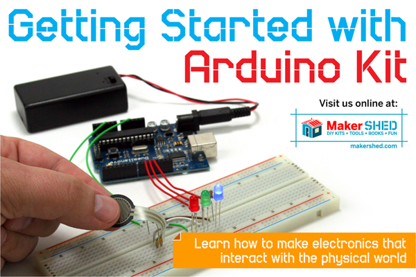 In the Maker Shed: Getting Started with Arduino Kit