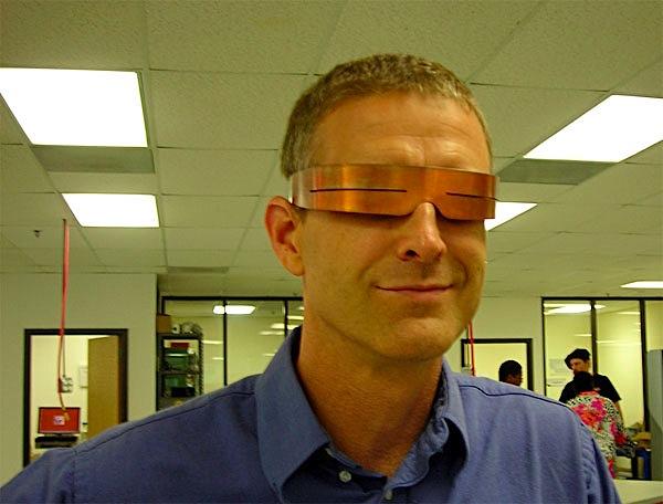 Sci-fi-chic eyeshades use ancient design