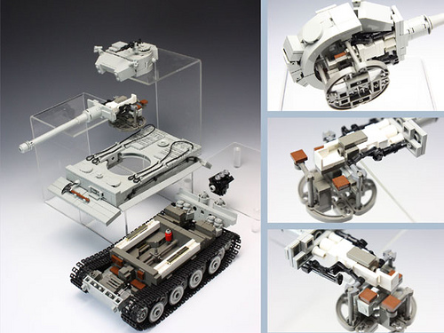 How to make a tank of Lego 25
