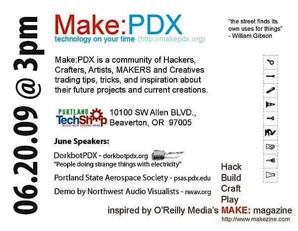MAKE: PDX meeting June 20