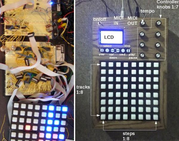 Standalone MIDI matrix sequencer