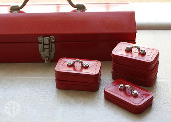 Mini mint tin toolboxes