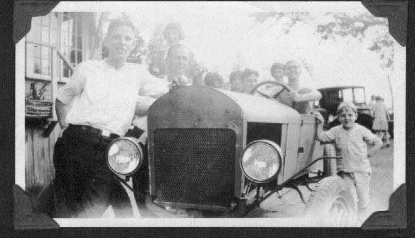 My grandfather's home built car