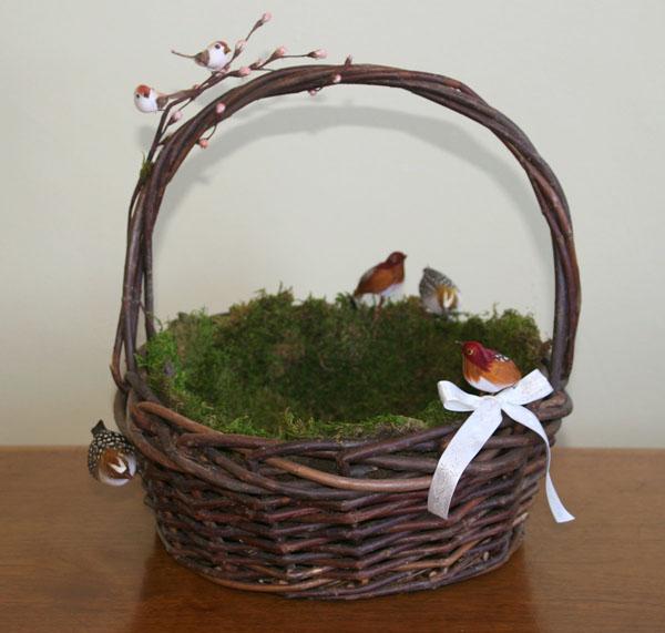 Bird's Nest Ring Bearer Pillow & Flower Girl Basket