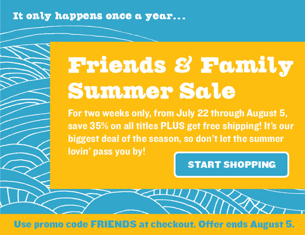 Chronicle Books' Friends & Family Summer Sale