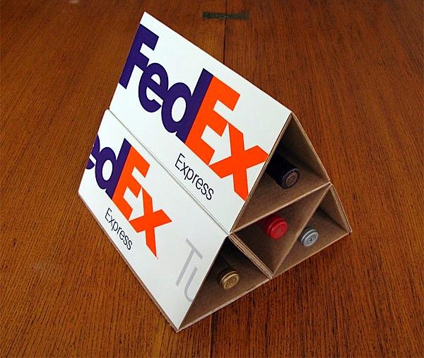 FedEx wine rack