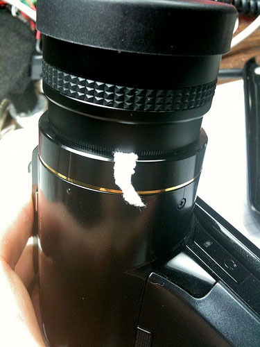 Quick fix for a stripped lens mount