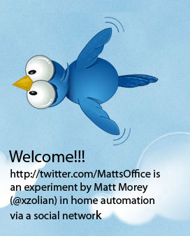 Home automation control via Twitter