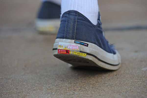 Bumper stickers, for your shoes!