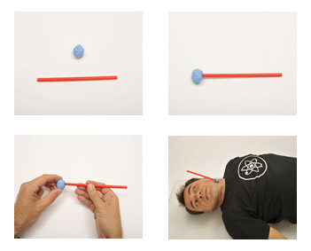 Visualize your heartbeat by gluing a straw to your neck