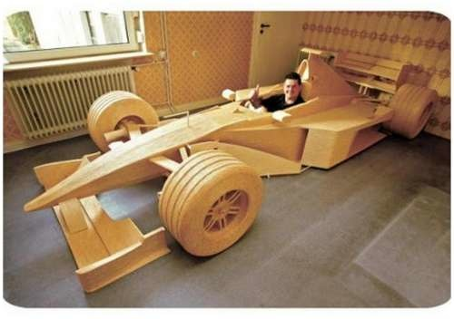 Full scale matchstick car