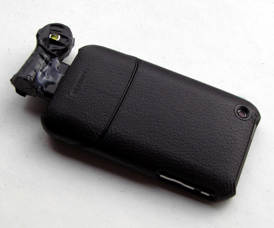 Cree emitter LED flash/video light for iPhone 3GS