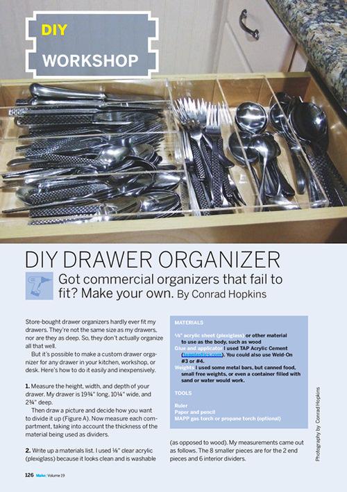 Weekend Project: DIY Drawer Organizer (PDF)