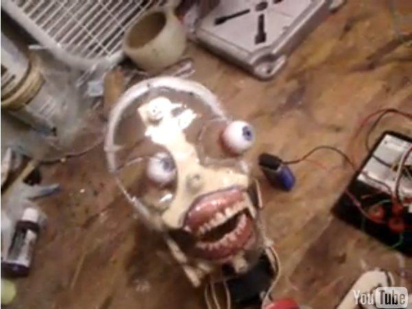 Incredibly creepy photoreactive animatronic, um, thing