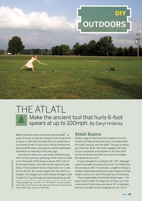 Weekend Project: The Atlatl (PDF)