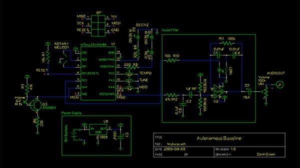 Build an autonomous bassline generator