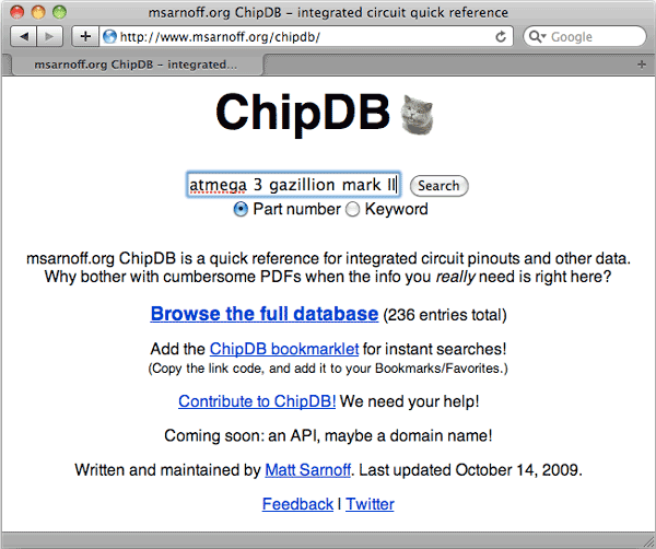 ChipDB, a new quick reference for ICs