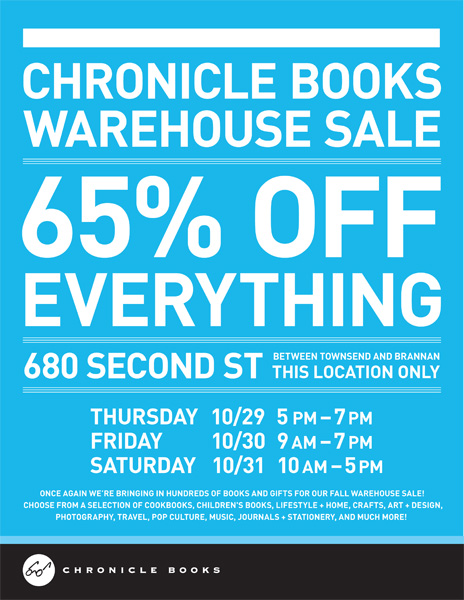 Chronicle Books' Warehouse Sale Starts Today