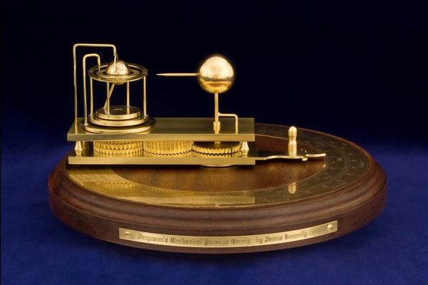 "Orrery based on Ferguson's ""mechanical paradox"""