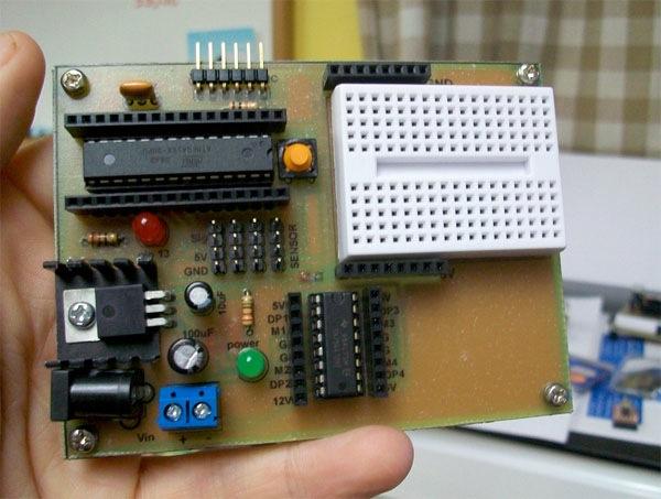 DIY Arduino dual motor board