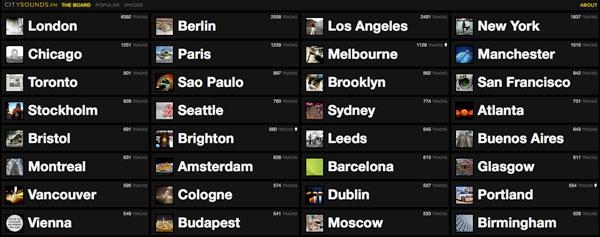 SoundCloud's CitySounds.fm