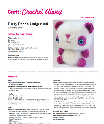 Intern's Corner: Crochet-Along Panda Party