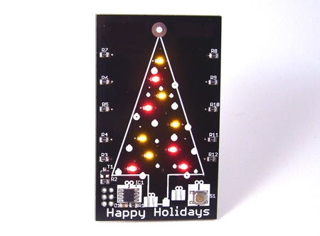 LED Christmas tree card