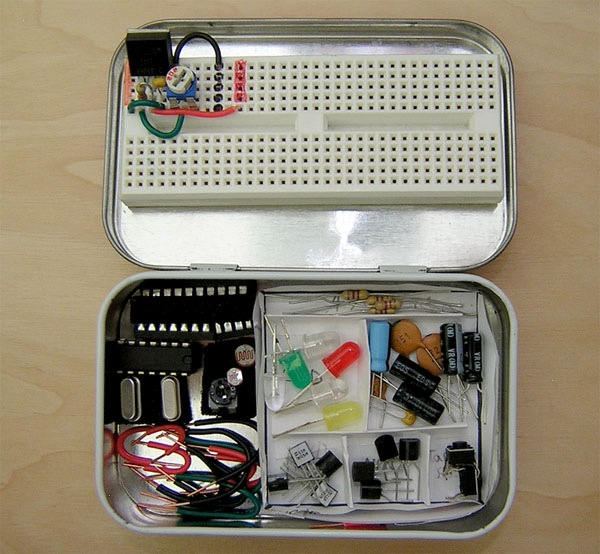 Mint tin electronics dev kit packs the essentials