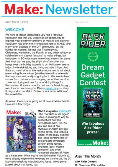 November Make: Newsletter released